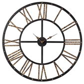28in Metal Framed Roman Numeral Open Back Wall Clock
