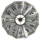 29in Aluminum And Rope Wall Clock - MEK2090