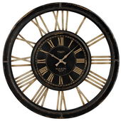 32in Large Wall Clock Wth Distressed Handpainted Frame - MEK2096