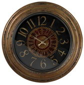 30in Large Wall Clock Wth Distressed Handpainted Frame - MEK2098