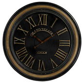 36in Large Wall Clock Wth Distressed Handpainted Frame - MEK2104
