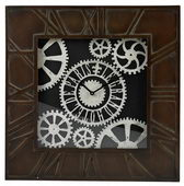30in Large Wall Clock Wth Distressed Handpainted Frame - MEK2106