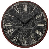 24in Map Of The Work Printed Wall Clock - MEK2120