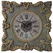 35in Nahant-Antque Reproducion Wall Clock Frame With Industrial Centre Print - MEK2132