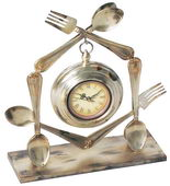 Utensil Desk Tabletop Clock - MEK2134