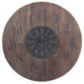 30in Wooden Wall Clock - MEK2140