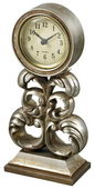 Desk Clock In Antique Silver - MEK2162