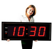 Large 8in Numbers LED Wall Clock comes with Remote Control - NBG6010