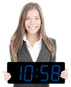 Blue LED Laser Clock Large 5in Numbers - High Visibility - Patented Design - NBG6110