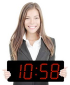 Red LED Laser Clock Large 5in Numbers - High Visibility - Patented Design - NBG6130