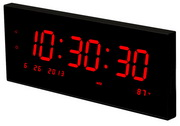 Large Calendar Multi-Alarm Led Clock With Seconds For Desk Or Wall - NBG6250