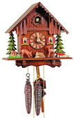 Authentic German Schonach 13In Moving Deer German Black Forest 1 Day Cuckoo Clock - NSC3611