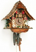 Authentic German Schonach 15In Wood Chopper & Goose German Black Forest 1 Day Cuckoo Clock - NSC3431