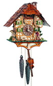 15In Moving Wanderer Schneider German Black Forest 1 Day Cuckoo Clock - NSC3341