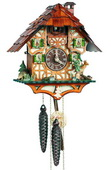 15In Moving Hunter Schneider German Black Forest 1 Day Cuckoo Clock - NSC3326