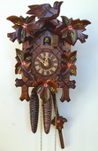 Authentic German Schonach 14In Leaves & Bird German Black Forest 1 Day Cuckoo Clock - NSC3671