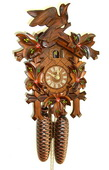18In Leaves & Bird Schneider German Black Forest 8 Day Cuckoo Clock - NSC3542