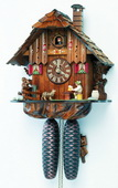 17In Moving Beer Drinker Schneider German Black Forest 8 Day Cuckoo Clock - NSC3347