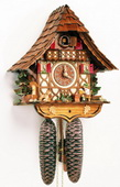 Authentic German Schonach 17In Moving Beer Drinker German Black Forest 8 Day Cuckoo Clock - NSC3314