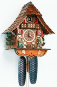 Authentic German Schonach 17In Moving Clock Peddler German Black Forest 8 Day Cuckoo Clock - NSC3296