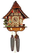 Authentic German Schonach 17In Moving Rocking Horse Boy Black Forest 8 Day Cuckoo Clock - NSC3293
