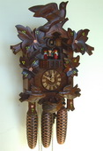 Authentic German Schonach 21In Moving Birds 8 Day Black Forest Cuckoo Clock With Music - NSC3245