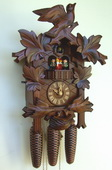 21In Moving Birds German Black Forest 8 Day Cuckoo Clock With Music - NSC3251