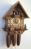 18in Kissing Couple & Deer Schneider German Black Forest 8 Day Musical Cuckoo Clock - NSC3149