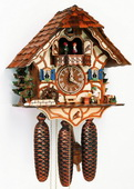 18In Moving Beer Drinker German Black Forest 8 Day Cuckoo Clock With Music - NSC3179