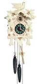 16In Leaves & Bird Schneider German Black Forest 1 Day Cuckoo Clock - NSC3653