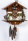 16In Grandfather& Boy & Moving Dog Schneider German 1 Day Cuckoo Clock With Music - NSC3260