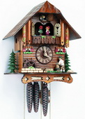 17In Moving Wood Chopper Schneider German Black Forest 1 Day Cuckoo Clock With Music - NSC3329