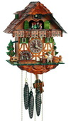 18In Moving Beer Drinker Schneider German Black Forest 1 Day Cuckoo Clock With Music - NSC3284