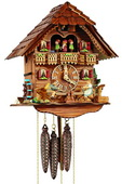 Authentic German Schonach 17In Children Moving Teeter-Totter 1 Day Musical Black Forest Cuckoo Clock