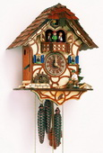 Authentic German Schonach 18In Moving Wood Chopper 1 Day Musical Black Forest Cuckoo Clock - NSC3266