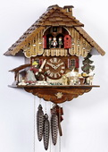 Authentic German Schonach 18In Beer Drinkers Black Forest 1 Day Cuckoo Clock With Music - NSC3269