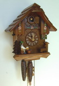 Authentic German Schonach 14in Beer Drinker 1 Day Chalet Black Forest Cuckoo Clock - NSC3581