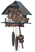 13.5in Simple & Beautiful Nice Cottage 1 Day Chalet German Black Forest Cuckoo Clock  - NSC3566