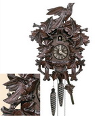 19in Birds & Leaves 1 Day Traditional German Black Forest Clock by Schneider - NSC3572