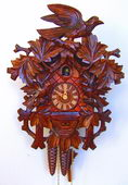 19in Birds & Leaves 1 Day Tradtional German Black Forest Clock by Schneider - NSC3569