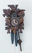 Authentic German Schonach 14in Birds & Leaves 1 Day Black Forest Cuckoo Clock - NSC3686