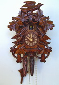 16in Birds & Leaves 1 Day Tradtional German Black Forest Clock by Schneider - NSC3647