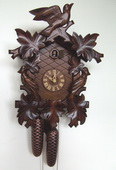19in Birds & Leaves 8 Days Traditional German Black Forest Clock by Schneider - NSC3521