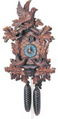 24in Birds & Leaves 8 Days Traditional German Black Forest Clock by Schneider - NSC3350