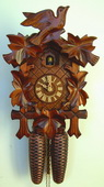 17in Birds & Leaves 8 Days Traditional German Black Forest Clock by Schneider - NSC3608