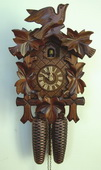 Authentic German Schonach 17in Birds & Leaves 8 Days Traditional Black Forest Cuckoo Clock - NSC3635