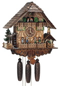 Authentic German Schonach 23in Musician Band 8 Days Musical Black Forest Cuckoo Clock - NSC3089