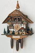 28.5in Beer Drinkers Cute Boy Girls Animals 8 Days Music German Black Forest Cuckoo Clock  - NSC3029