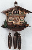 Authentic German Schonach 18in Beer Drinkers 8 Days Musical Black Forest Cuckoo Clock - NSC3173