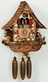 22in Cute Boy & Girls & Deer 8 Days Musical Chalet German Black Forest Clock by Schneider - NSC3071